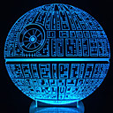 cheap Jewelry & Cosmetic Storage-LED Table Night Light 3D Optical Illusion USB Cable Desk Lamp Valentine's Day Halloween Decorations Death Star