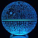 abordables Lámparas de Noche-Led mesa noche luz 3d ilusión óptica usb cable lámpara de escritorio día de san valentín halloween decoraciones estrella de la muerte