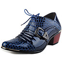 cheap Men's Oxfords-Men's Cowboy / Western Boots Patent Leather Spring / Fall Comfort / Gladiator Oxfords Golf Shoes Blue / Party & Evening