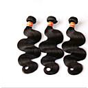 olcso Divatos gyűrű-Brazil haj Hullámos haj / Klasszikus Szűz haj Hair Vetülék, zárral 4 csomópont Emberi haj sző Fekete Human Hair Extensions