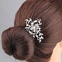 cheap Party Headpieces-Rhinestone / Alloy Hair Combs / Headwear with Floral 1pc Wedding / Special Occasion Headpiece