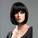 cheap Synthetic Capless Wigs-Synthetic Wig Straight Bob Haircut / With Bangs Synthetic Hair With Bangs Wig Women's Short Capless