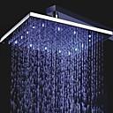رخيصةأون ملصقات الأظافر-معاصر دش المطر الكروم ميزة - زخة المطر LED, رئيس دش