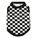 cheap Dog Clothes-Cat Dog Shirt / T-Shirt Dog Clothes Plaid/Check Black Cotton Costume For Pets Men's Women's Fashion