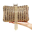 cheap Clutches & Evening Bags-Women's Bags Polyester Evening Bag Crystal / Rhinestone / Acrylic Jewels Silver / Red / Blue