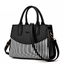 cheap Totes-Women's Bags PU(Polyurethane) Shoulder Bag / Zipper Ruffles Black / Dark Blue / Light Blue