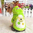 voordelige Hondenkleding-Hond Hoodies Hondenkleding Effen dier Paars Geel Rood Groen Blauw Katoen Kostuum Voor huisdieren Heren Dames Casual/Dagelijks