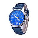 abordables Utensilios de Horno-Hombre Reloj de Pulsera Los diseñadores / / / suizo Piel Banda Casual / Reloj de Vestir Negro / Azul / Marrón