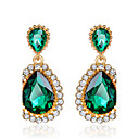 cheap Earrings-Women's Emerald / AAA Cubic Zirconia / Synthetic Emerald Drop Earrings - Zircon, Cubic Zirconia Birthstones Green For Wedding / Party / Crystal