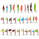cheap Fishing Lures & Flies-30 pcs Hard Bait / Spinner Baits / Spoons Hard Bait / Buzzbait & Spinnerbait / Spoons Metal Sea Fishing / Bait Casting / Spinning / Freshwater Fishing / Bass Fishing / Lure Fishing