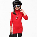 cheap Girls' Clothing Sets-Kids Girls' Lace Solid Colored Long Sleeve Cotton Dress