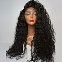 cheap Synthetic Lace Wigs-Synthetic Lace Front Wig Curly Side Part 180% Density Synthetic Hair Youth / Party / Natural Hairline Black Wig Women's Long Lace Front