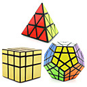 cheap Rubik's Cubes-Rubik's Cube 3 PCS Shengshou Pyramid Alien Megaminx Mirror Cube Smooth Speed Cube Magic Cube Puzzle Cube Professional Level Speed Gift