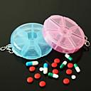 baratos Para Organizar a Sua Cozinha-útil portátil caixa de pílula de 7 dias pílula de vitamina caso seguro grande compartimento (cor de ramdon)