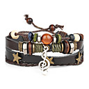 cheap Men's Bracelets-Men's Leather Bracelet - Leather Punk Bracelet Black For Daily / Casual