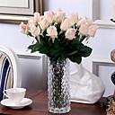 billige Bursdagdekor-Kunstige blomster 10 Gren Europeisk Stil Roser Bordblomst