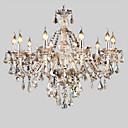 ieftine Candelabre-10-Light Lumânare stil Candelabre Iluminare verticală - Cristal, 110-120V / 220-240V Becul nu este inclus / 40-50㎡ / E12 / E14