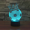 cheap Umbrella/Sun Umbrella-Football Crown Touch Dimming 3D LED Night Light 7Colorful Decoration Atmosphere Lamp Novelty Lighting Light