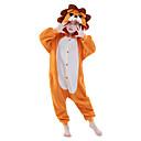 billige Smartur Tilbehør-Børne Kigurumi-pyjamas Løve Onesie-pyjamas Polarfleece Orange Cosplay Til Drenge og piger Nattøj Med Dyr Tegneserie Festival / Højtider Kostumer