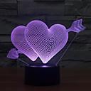 voordelige Originele verlichting-pijl hart touch dimmen 3d led nachtlampje 7colorful decoratie sfeerlamp nieuwigheid verlichting licht