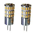 זול תאורה קדמית לרכב-נורות שני פינים לד 300-450 lm G4 T 48 LED חרוזים SMD 3014 דקורטיבי לבן חם לבן קר לבן טבעי 12 V / שני חלקים / RoHs