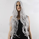 cheap Costume Wigs-fashion natural wavy long length grey color popular synthetic wig for woman cosplay wig Halloween