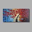 billige Hovedtelefoner-Hang-Painted Oliemaleri Hånd malede - Blomstret / Botanisk Moderne Lærred