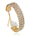 cheap Hair Pieces-Women's Tennis Bracelet - Fashion Bracelet Jewelry Silver / Golden For Wedding