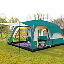 cheap Tents, Canopies & Shelters-Shamocamel® 8 person Family Tent Double Layered Poled Instant Cabin Camping Tent Two Rooms Outdoor Waterproof, Well-ventilated, Anti-Insect for Camping / Hiking >3000 mm Polyester, Polyster