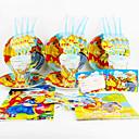 tanie סרטים ומדבקות לחלון-Kubuś Puchatek 92pcs Ozdoby urodzinowe dla dzieci evnent zaopatrzenie Party dekoracji 12 osób korzysta