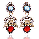 cheap Earrings-Women's Chandelier Drop Earrings - Fashion, Euramerican Beige / Red For Party