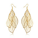 cheap Men's Oxfords-Women's Tassel / Hollow Out / Long Earrings - Leaf Tassel, Bohemian, Fashion Golden For Daily / Casual