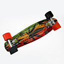 billige Skateboarding-Cruisers Skateboard PP (Polypropen) Orange Orange/Sort Blomst
