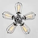 abordables Candelabros-QINGMING® 5-luz Montage de Flujo Luz Downlight Cromo Metal Los diseñadores 110-120V / 220-240V Bombilla incluida / E26 / E27