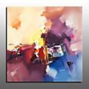 رخيصةأون لوحات تجريدية-هانغ رسمت النفط الطلاء رسمت باليد - تجريدي الحديث مع إطار