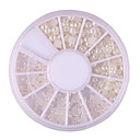 cheap Rhinestone & Decorations-the size of mixed manicure pearl pearl white pearl a semicircle