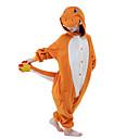 cheap Kigurumi Pajamas-Kid's Kigurumi Pajamas Dragon Animal Onesie Pajamas Velvet Mink Orange Cosplay For Boys and Girls Animal Sleepwear Cartoon Festival / Holiday Costumes