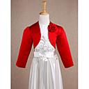 povoljno Stole za vjenčanje-Dugih rukava Saten Vjenčanje / Party / večernja odjeća Dječji ogrtači S Cvijet Bolera