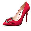 preiswerte Spielkonsolen-Damen Schuhe Seide Sommer High Heels Stöckelabsatz Schleife Grau / Rot / Golden
