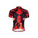 cheap Cycling Jerseys-ILPALADINO Men's Short Sleeve Cycling Jersey - Red Fashion Bike Jersey Top, Breathable Quick Dry Ultraviolet Resistant 100% Polyester / Stretchy / Reflective Strips / Sweat-wicking