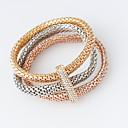 baratos Pulseiras-Mulheres Enrole Pulseiras - Fashion Pulseiras Prata / Dourado / Ouro Rose Para