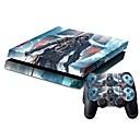 رخيصةأون PS4 اكسسوارات-B-SKIN لاصق من أجل PS4 ، لاصق PVC 1 pcs وحدة