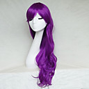 cheap Synthetic Lace Wigs-Synthetic Wig Wavy Style Asymmetrical Capless Wig Purple Purple Synthetic Hair Women's Natural Hairline Purple Wig Long Natural Wigs