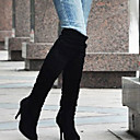 preiswerte Damen Stiefel-Damen Schuhe Kunstleder Herbst / Winter Modische Stiefel Stiefel Walking Stöckelabsatz Weiß / Schwarz / Grau