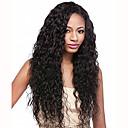 preiswerte Synthetische Perücken mit Spitze-Synthetische Lace Front Perücken Wellen Synthetische Haare Schwarz Perücke Damen Spitzenfront