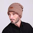 זול ביגוד לסקי וסנובורד-סקי כובע בגדי ריקוד גברים / בגדי ריקוד נשים שמור על חום הגוף סנוברוד צמר צבע אחיד ספורט חורף