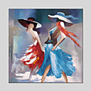 cheap People Paintings-Oil Painting Hand Painted - People Classic European Style Modern Canvas