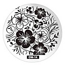 cheap Slipcovers-Nail Art Plate Stamp Stamping Set Round Stainless Steel