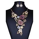 abordables Juego de Joyas-Mujer Conjunto de joyas - Vintage, Europeo, Moda Incluir Collar / pendientes Dorado Para Boda / Fiesta / Diario / Pendientes / Collare