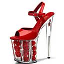 abordables Sandalias de Mujer-Mujer Zapatos Cuero Patentado Verano / Otoño Zapatos con luz / Zapatos del club Tacones Tacón Stiletto / Plataforma / Tacón de cristal